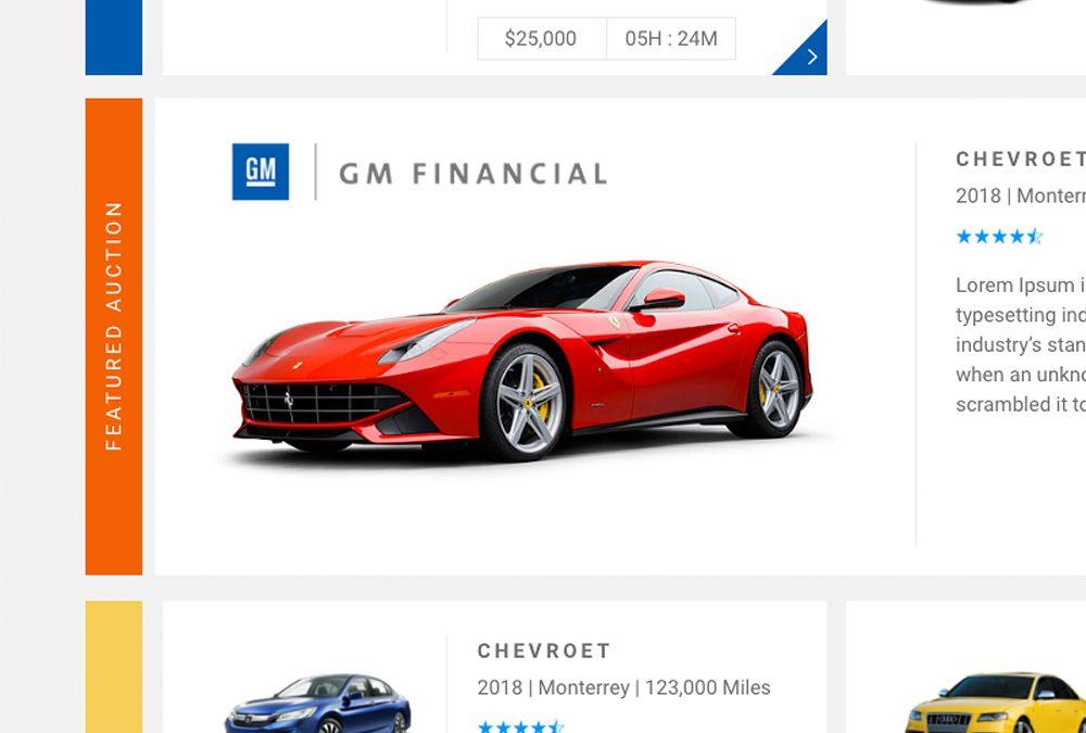 GM Financial Auction UI