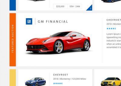 GM Financial Auction UI